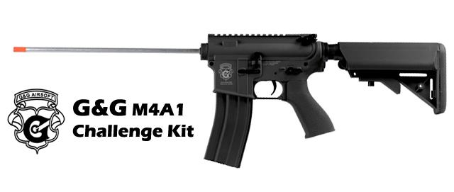 G&G M4 Challenge Kit Electric Blowback Combat Machine Airsoft AEG - Black (Package: Gun Only)