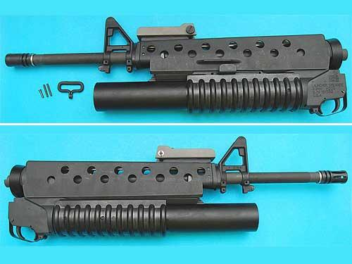 G&P Airsoft M16 Scar Face Conversion Kit w/ M203 Gas Grenade launcher