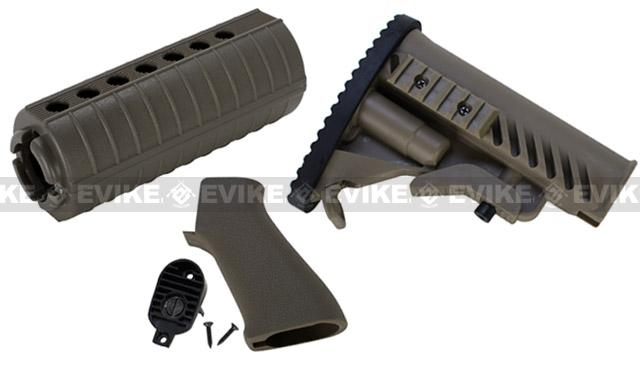 Matrix APS Furniture Conversion Kit for M4 Series Airsoft AEG (Color: OD Green)