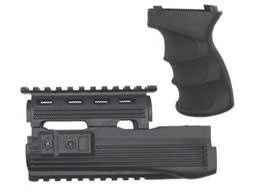 Matrix Desert Storm AK47 Railed Handguard / AK47 Grip Set (Color: Black)