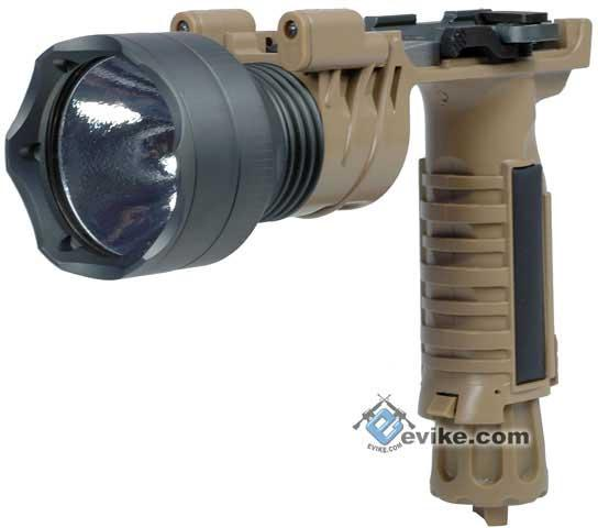 z Bravo 9V Xenon M9B Combat Tactical Grip Light with 2 LED for Airsoft (Desert)