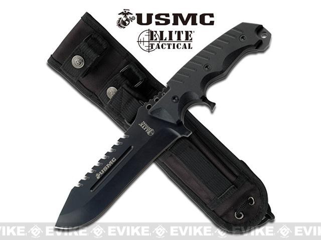M-Tech Marines Elite Tactical 11.5 Fixed Blade Knife (Color: Black)
