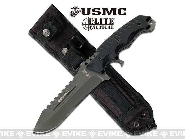 M-Tech Marines Elite Tactical 11.5 M-2003BK Fixed Blade Knife - Titanium Grey