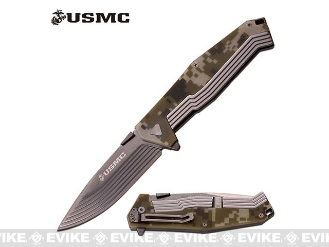 Marines 4.75 Hotshot Assisted Opening Tactical Folding Knife by M-Tech - Camo