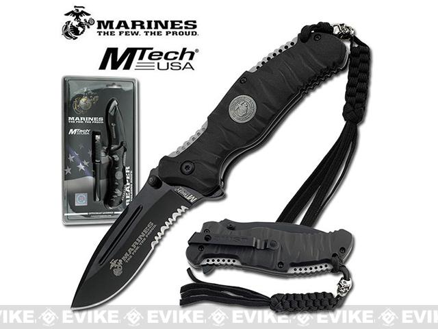USMC Marine Reaper Assisted Opening Folding Knife with 3 5/8