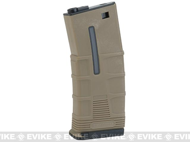 ICS 45rd Mid-Cap TMAG for M4 / M16 / L85 Airsoft AEG Rifles Dark Earth (Qty: 6 Pack)