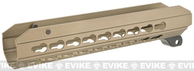 ICS OEM Replacement 9 KeyMod Hand Guard for CXP APE Series Airsoft AEG Rifles (Color: Desert)