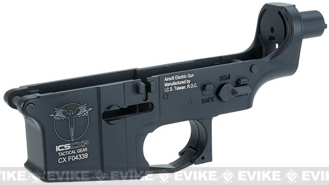 ICS UK1 Full Metal Aluminum Lower Receiver for Airsoft AEG Rifles - Black