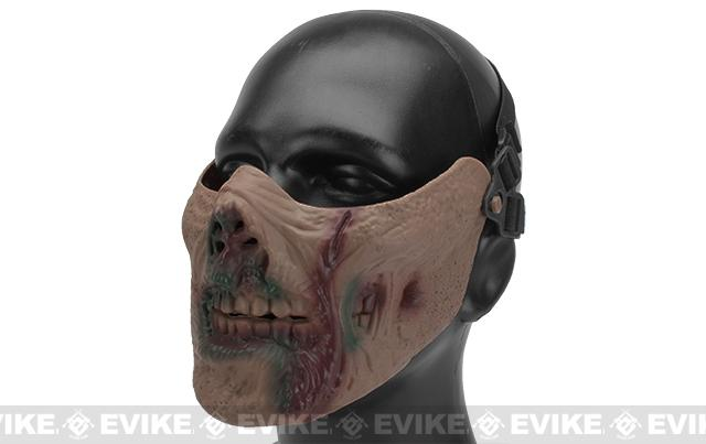 6mmProShop Zombie Iron Face Lower Half Mask - Undead
