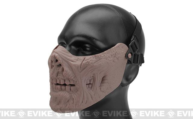 6mmProShop Zombie Iron Face Lower Half Mask - Tan