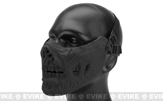 6mmProShop Zombie Iron Face Lower Half Mask - Black