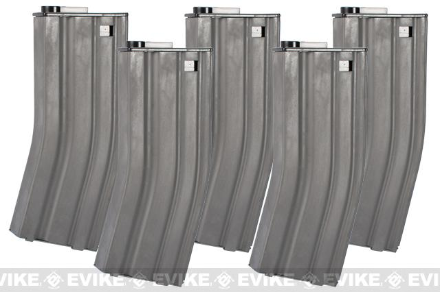 Matrix 120rd Metal M4 / M16  Mid Capacity Magazine - Set of 5