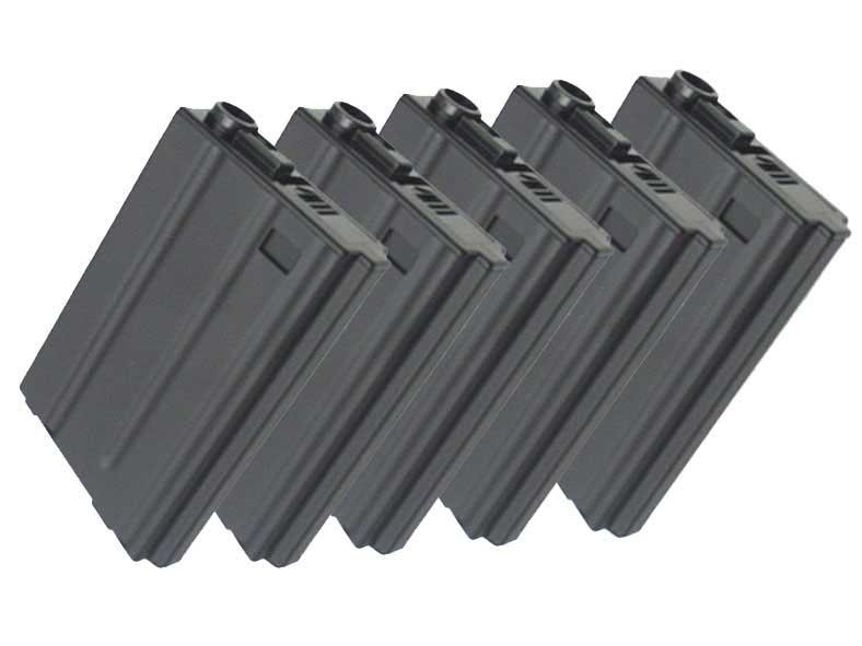Matrix Full Metal VN / SPR Type 190rd Hi-Cap Magazine for M4 M16 Series Airsoft AEG (Set of 5)