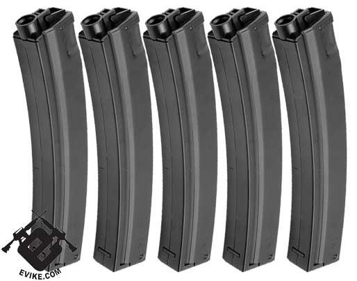 Matrix 260 Round Hicap Full Metal Magazine for MP5 / MOD5 Series Airsoft AEG (Package: Set of 5)
