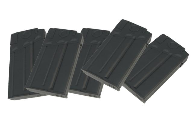 King Arms 110rd Mid-Cap Magazine for G3 Series Airsoft AEG (Package: Box Set of 5)