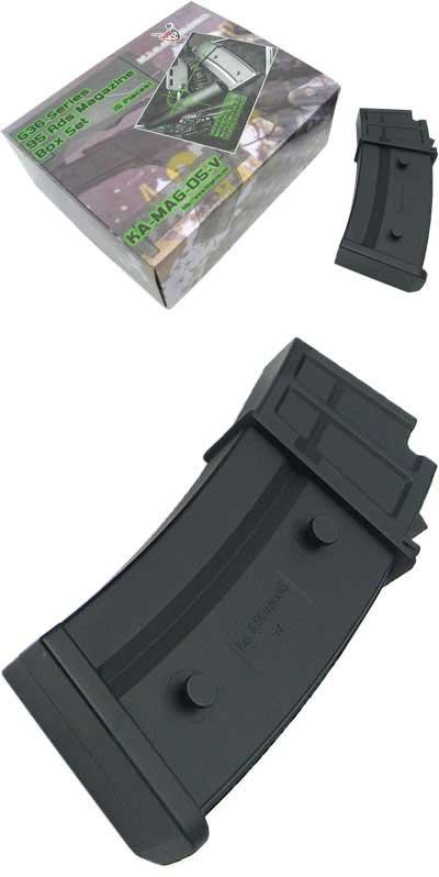 King Arms No Winding 95rds Magazine for G36 Series AEG (Package: Set of 5)