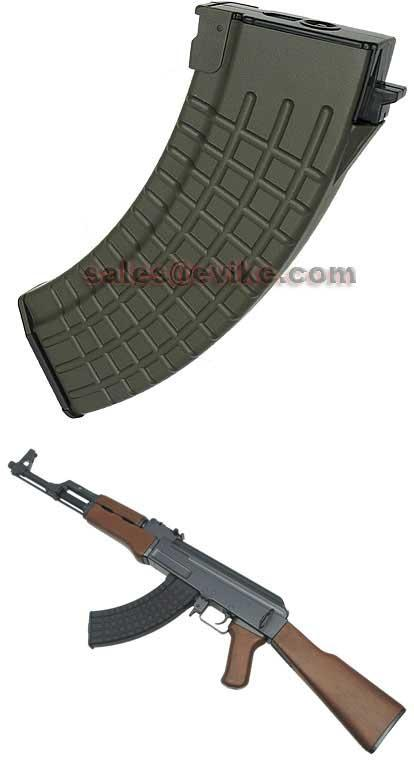 MAG 100 Round Mid-cap Magazine For AK Series Airsoft AEG (Color: OD Green / Waffle / One Magazine)