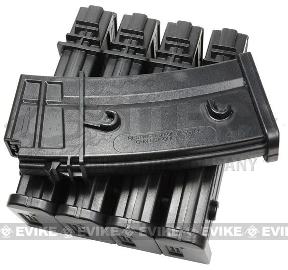 Evike.com 120 Round Mid-cap Magazine For G36 SL9 XM8 Series Airsoft AEG (Package: Box Set of 5)