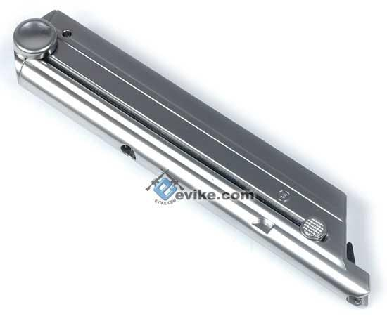 WE Spare Magazine for P08 / Luger Series Airsoft Gas Blowback (Color: Silver)