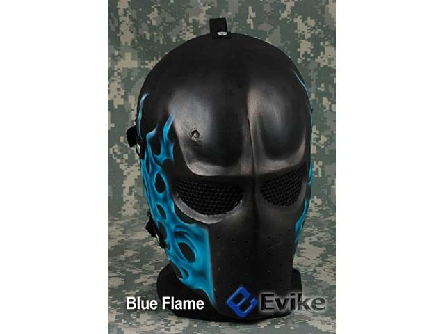 Evike.com R-Custom Fiberglass Wire Mesh Army Mask - Blue Flame