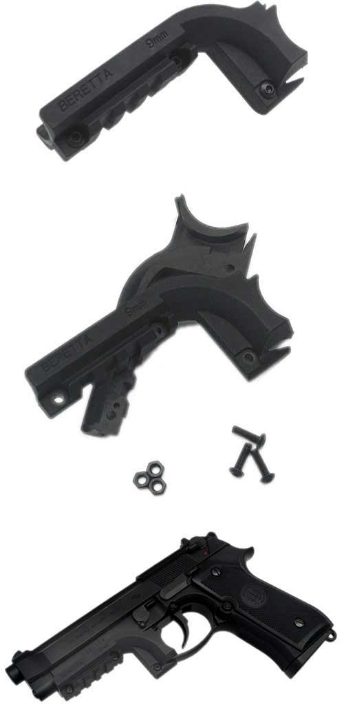 King Arms Pistol Laser / Light Mount for M9 Series Hand Guns (Black)