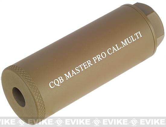 CQB Master 80mm Airsoft Pro Barrel Extension / Mock Suppressor System (Color: Dark Earth)