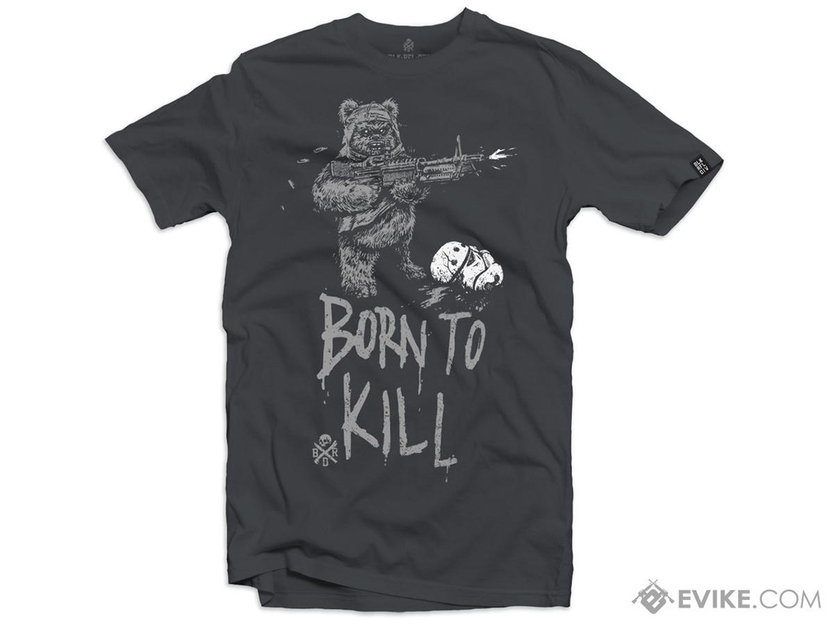 Black Rifle Division Born to Kill T-shirt - Grey (Size: Small)