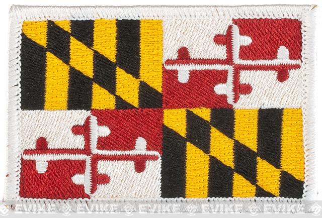 Evike.com Tactical Embroidered U.S. State Flag Patch (State: Maryland The Old Line State)