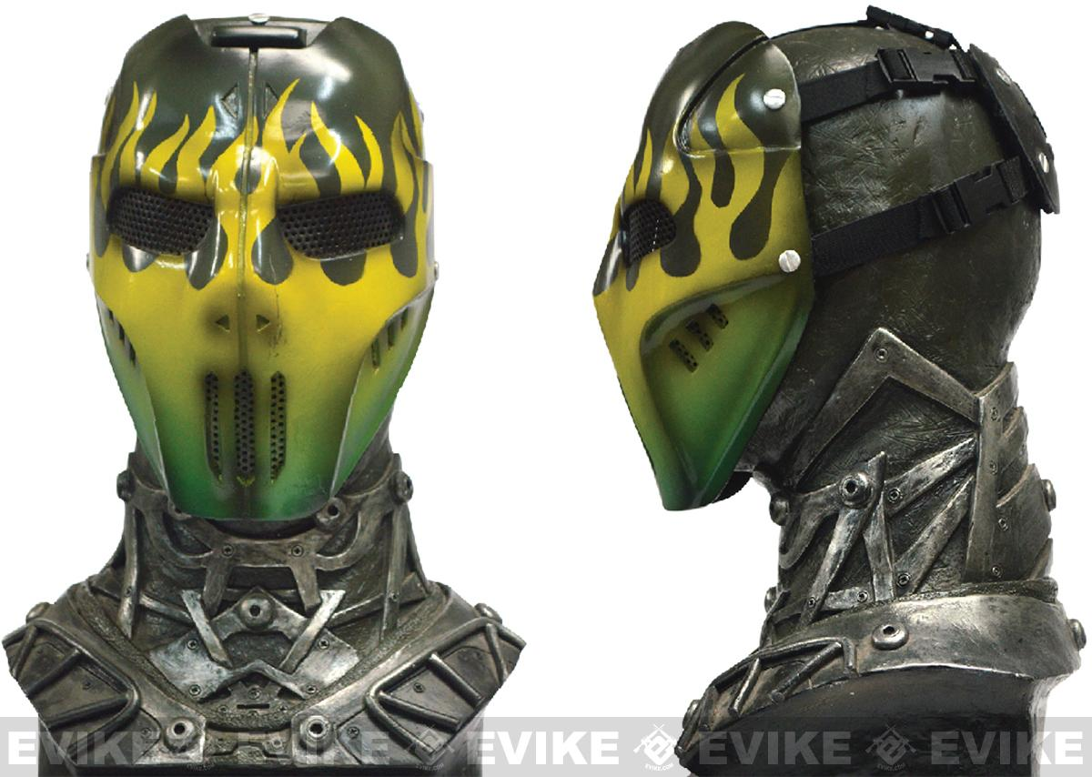 Evike.com R-Custom Fiberglass Wire Mesh Green Flame Mask Inspired by Brink