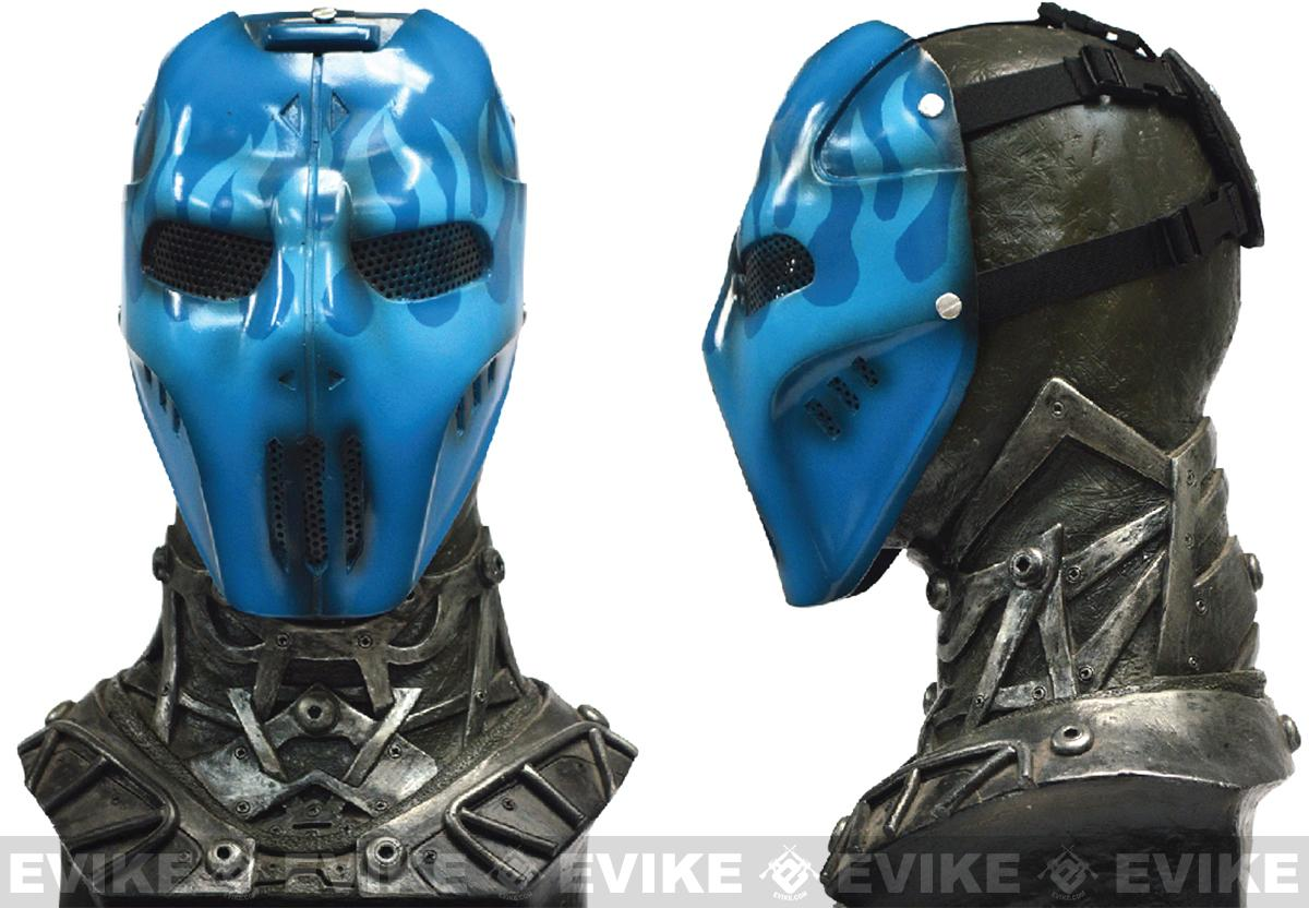 Pre-Order ETA July 2016 Evike.com R-Custom Fiberglass Wire Mesh Blue Flame Mask Inspired by Brink
