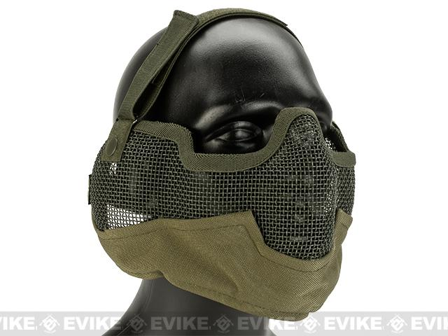 Matrix Iron Face Carbon Steel Striker Gen2 Metal Mesh Lower Half Mask - Desert Tan