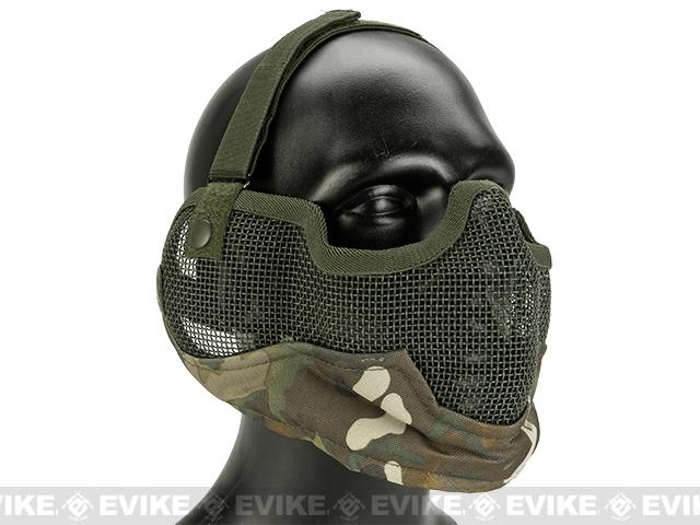 Matrix Iron Face Carbon Steel Striker Gen2 Metal Mesh Lower Half Mask - Camo