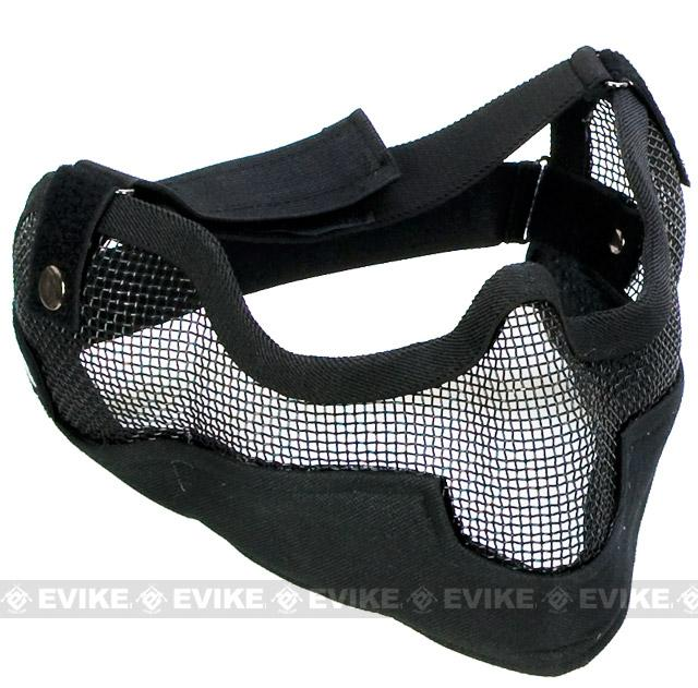 Matrix Iron Face Carbon Steel Striker Gen2 Metal Mesh Lower Half Mask (Color: Black)
