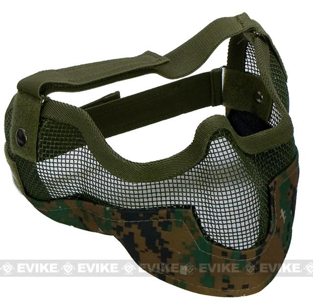 Matrix Iron Face Carbon Steel Striker Gen2 Metal Mesh Lower Half Mask  (Color  Digital 1520a7266