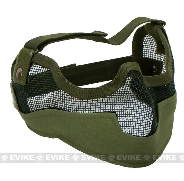 Matrix Iron Face Carbon Steel Striker Gen2 Metal Mesh Lower Half Mask (Color: OD Green)