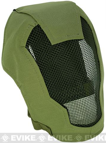 Matrix Iron Face Carbon Steel Striker Gen4 Metal Mesh Full Face Mask - OD Green
