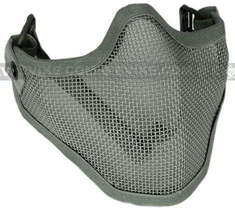 Matrix Iron Face Carbon Steel Mesh Striker V1 Lower Half Mask - Ranger Green