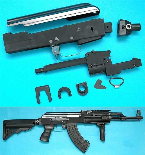 z G&P Supreme Grade AK Metal Body Kit for Airsoft AK Series AEG (Black)