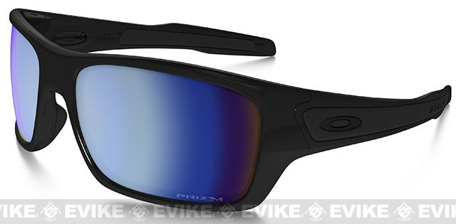 Oakley Turbine Prizm Matte Black with Deep Water Polarized Lenses