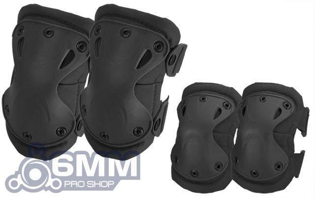 6mmProShop Tactical Knee & Elbow Pad Set (Color: Black)