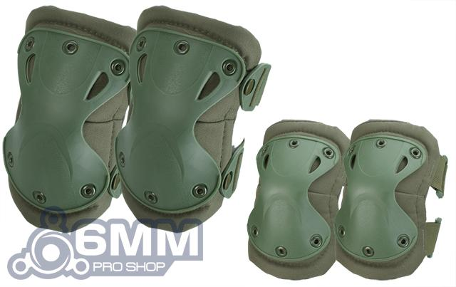 6mmProShop Tactical Knee & Elbow Pad Set (Color: OD Green)