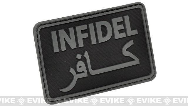 Hazard 4 Infidel Rubber  Patch - Black