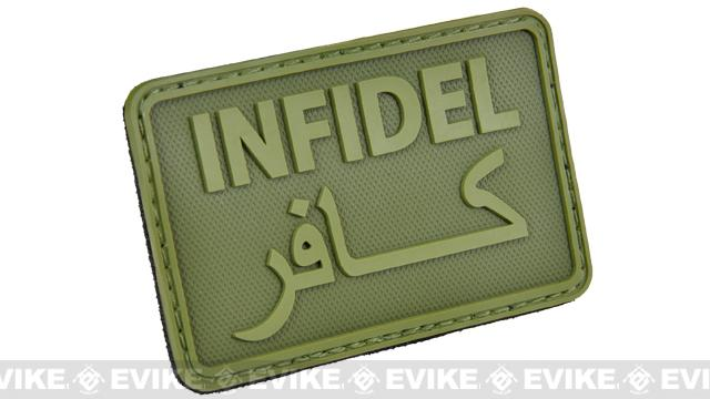 Hazard 4 Infidel Rubber Hook and Loop Patch - OD Green
