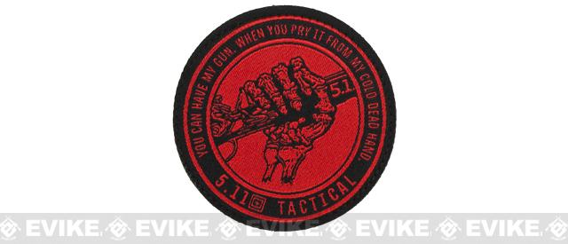 5.11 Tactical Cold Hands Embroidered Hook and Loop Morale Patch - Red