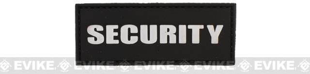 Security Tag PVC Hook and Loop Morale Patch - Black