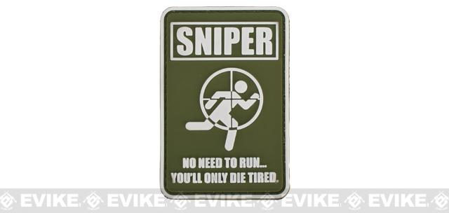 Matrix Sniper PVC Hook and Loop Morale Patch - OD Green