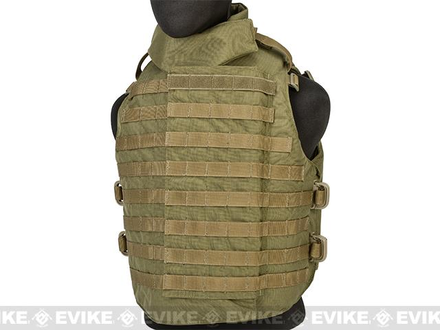 Black Owl Gear / Phantom Interceptor Replica Modular OTV Body Armor / Vest - Medium (Coyote)
