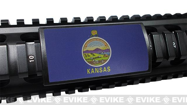 z Custom Gun Rails (CGR) Large  Aluminum Rail Cover - Kansas State Flag