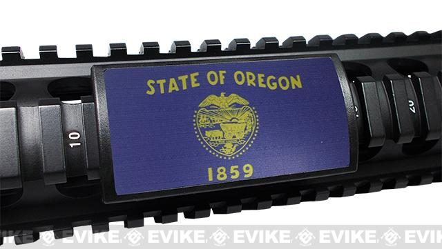 Custom Gun Rails (CGR) Large State Flag Aluminum Rail Cover (State: Oregon)