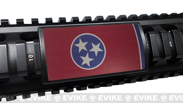 Custom Gun Rails (CGR) Large State Flag Aluminum Rail Cover (State: Tennessee)